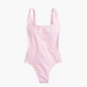 J. Crew Plunging Scoopback One Piece Swimsuit